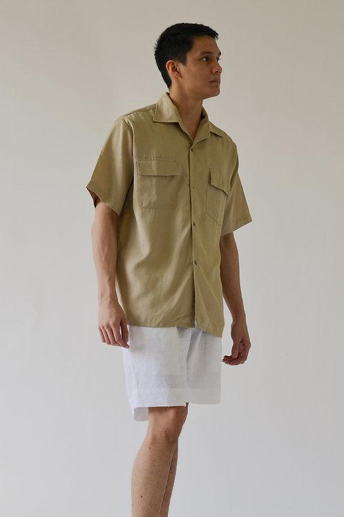 Men's Holiday Shirt Khaki