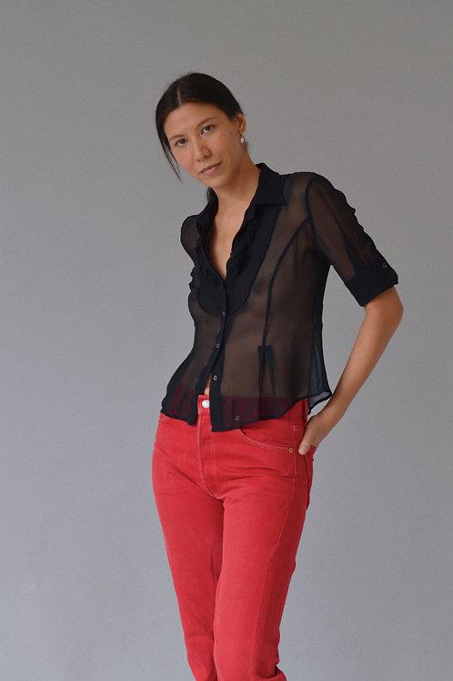 Kostüm V Anteprima Silk Sheer Blouse
