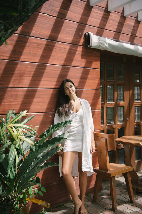 Mamahay Robe Off-White Linen (pre-order)