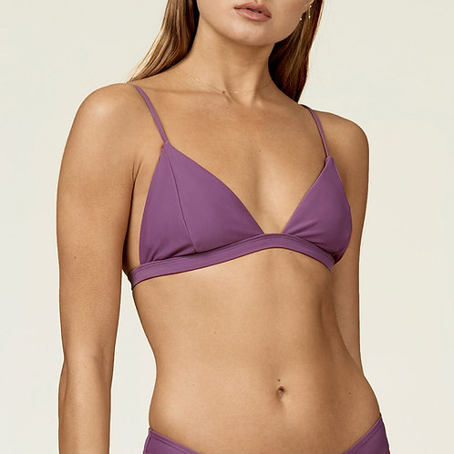Anna Swim Trini Top Grape