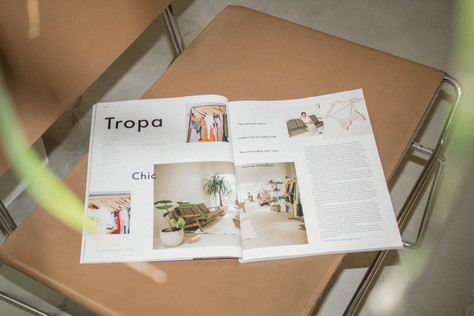 Spotted: 'Tropa Chic' in the pages of L'Officiel Magazine