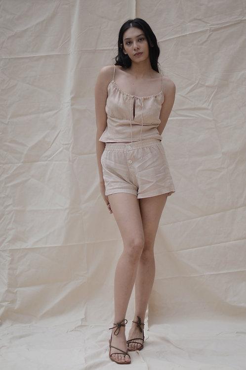 Boxer Short Khaki Linen
