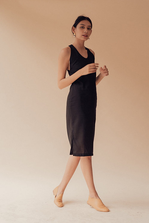 Liso Dress Black Linen