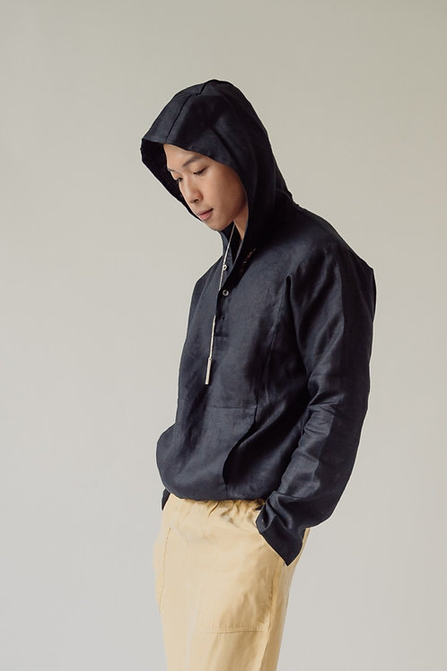 Hooded Pullover Black