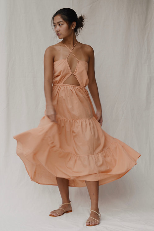 Idalia Tier Maxi Dress Kamote (pre-order)