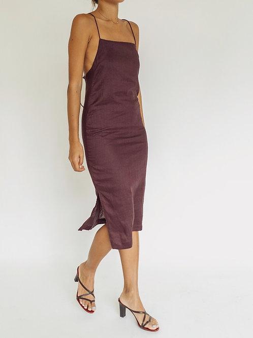 Presko Midi Dress Aubergine