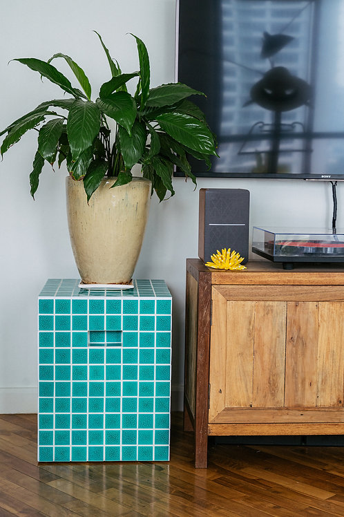 Tropa Tiled Side Table Water