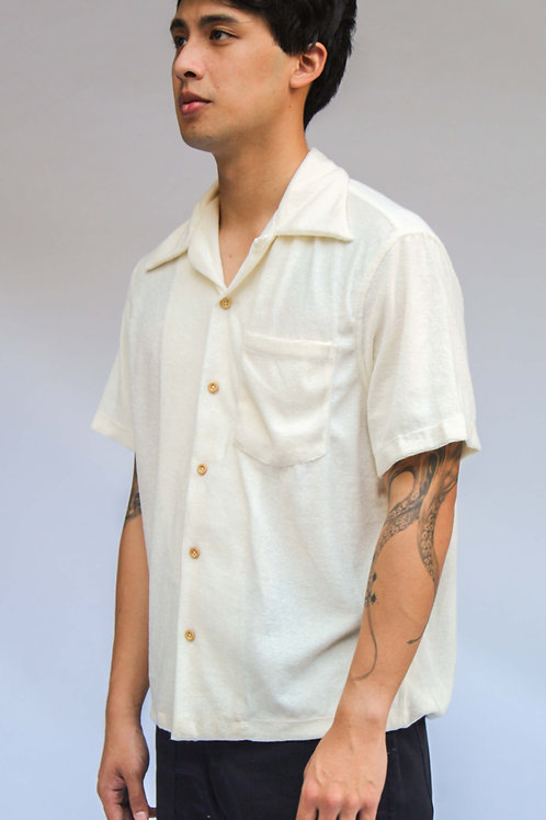 Tropa Terry Hawaiian Shirt Off White
