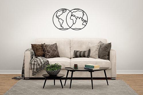 Earth Hemispheres Home Decor Puzzle