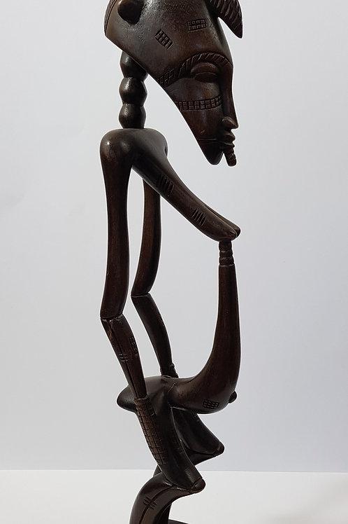 Large Standing Man Statue Ivory Coast
