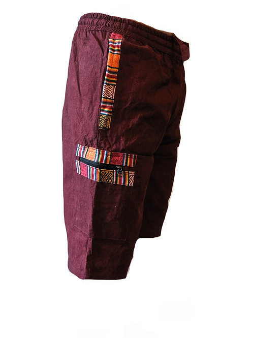 Nepalese Trim Cotton Shorts (Available in 4 colours)