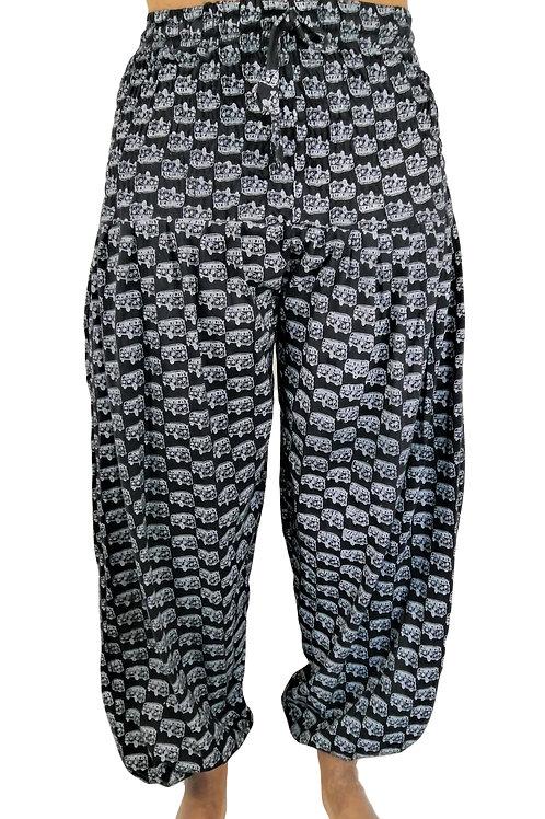 Camper Van Print  Women's Elastic Bottom Trousers