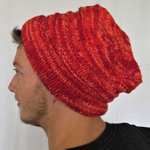 Men's Ribbed Beanie Wool Hat