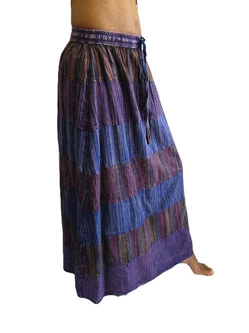Stonewash Nepal Stripe Panel Skirt