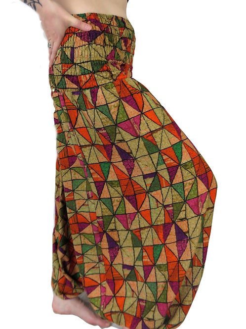 Triangle Print Afghan Trousers (in 2 colours)