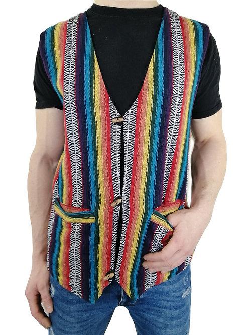 Rainbow Fine Weave Cotton Waistcoat