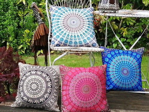 Cushion Cover - Digital Print Mandala (in 4 Colours)