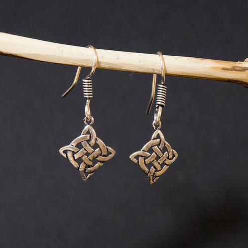 Celtic Knot in a Square Earring