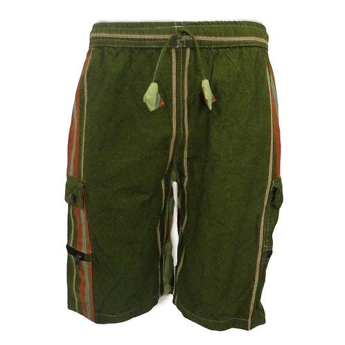 Heavy Cotton Stripe Shorts Green