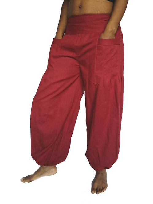 Cotton Panel Front Kamu Trousers (Available in 3 colours)
