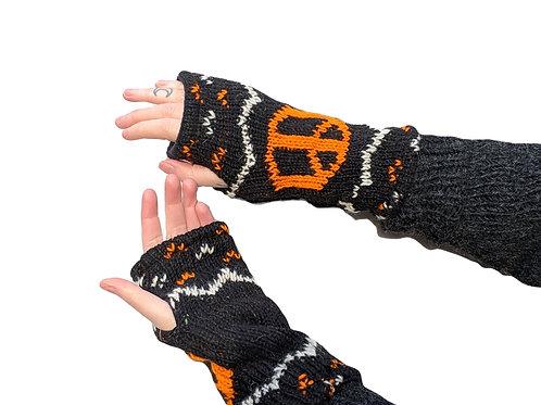 Armwarmer Peace Wool and Fleece Lined