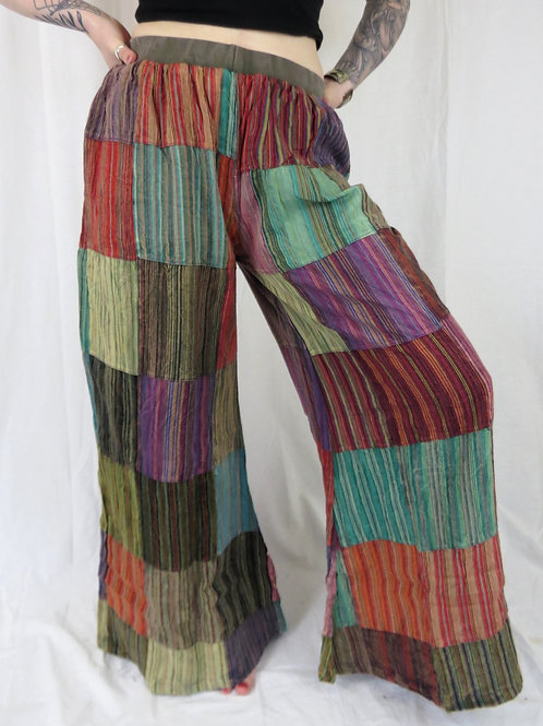 Nepali Cotton Patchwork Flares (colours vary)