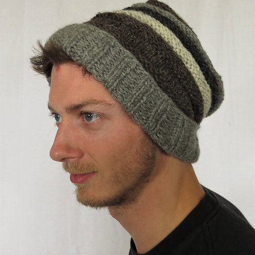 Men's Slouchy Beanie Wool Hat