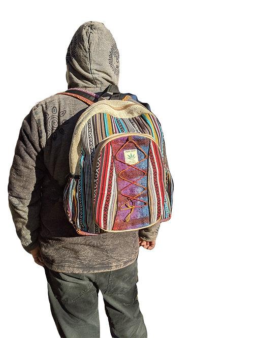 Backpack Hemp Cotton Tie Dye Cross Cord (in 3 Colours)