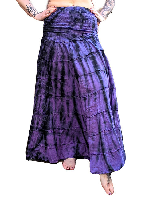 & Panel Tie Dye Skirt (in 4 Colours)
