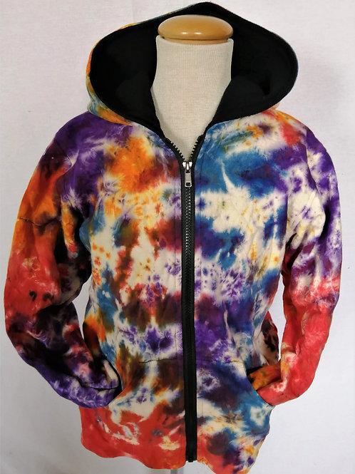 Childrens Tie-Dye Fleece Lined Jacket