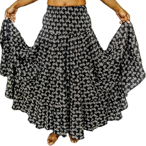 Motorbike Full Gypsy Skirt (in 2 Colours)