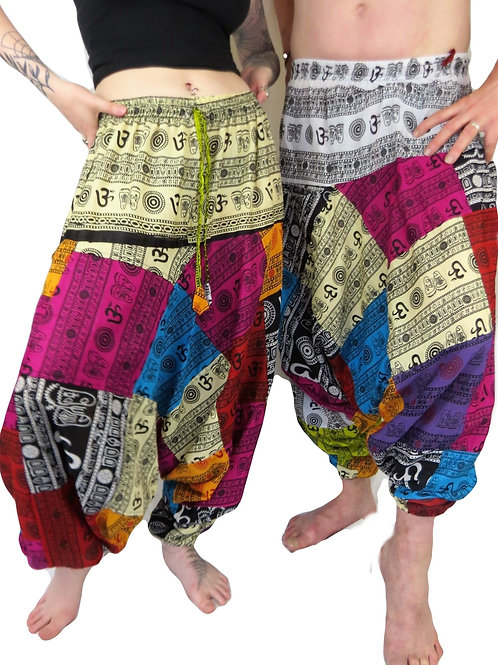Om Patchwork Afghan Unisex Trousers