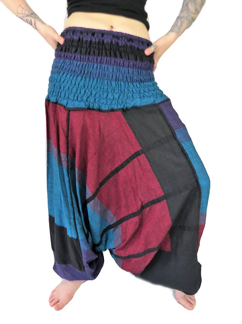 3 Tone Bobbin Afghan Trousers (in 3 colours)