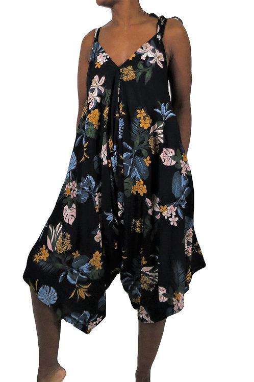 Rayon Flower Jumpsuit