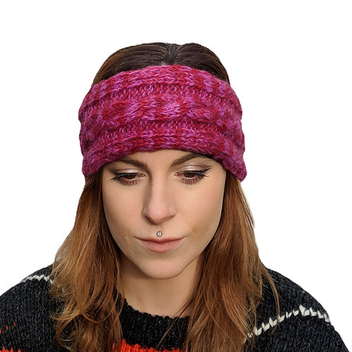 "Headband ""Mulled Wine"""" Wool and Fleece."