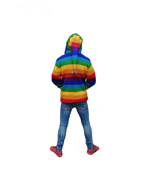 Rainbow Pixie Hood Jacket Fleece Lined