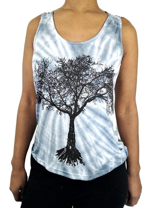 Tie Dye Tree Print Vest (in 3 Colours)