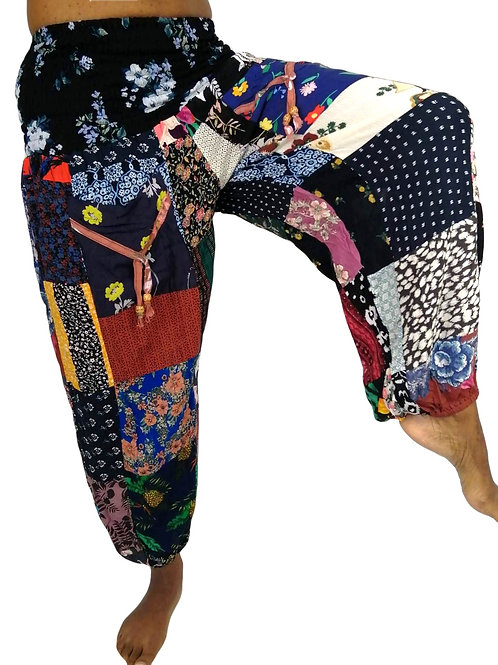 Print Rayon Patchwork Pocket Natan Trousers