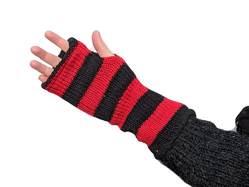 Armwarmer Dennis The Menace, Wool and Fleece Lined