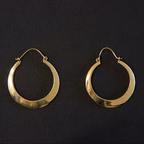 Brass Loop Hook Closure Earring