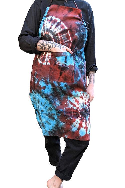 Cooking Apron Indian Rayon Circle Tie Dye