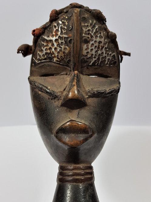 Baoulé Head Statue Ivory Coast