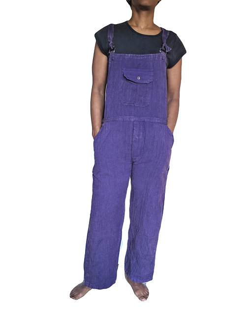 Stonewashed Plain Cotton  Dungarees (in 2 Colours)