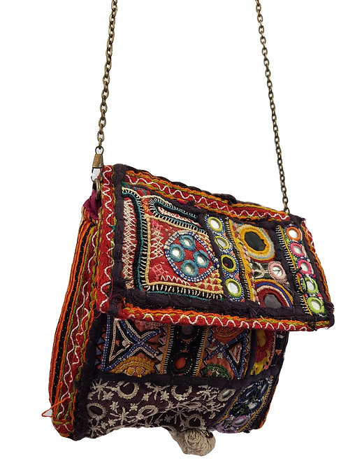 Vintage Rajasthani Embroidery and Mirrrwork Bag