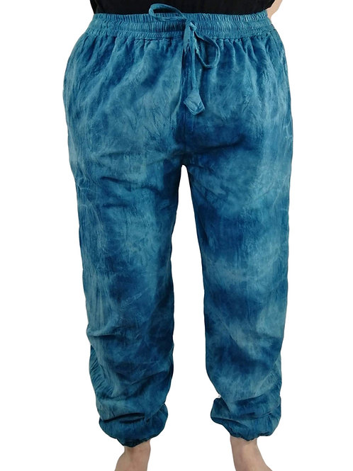 Fleece Lined Unisex Tie Dye Elastic Bottom Blockprint (in 3 Colours)