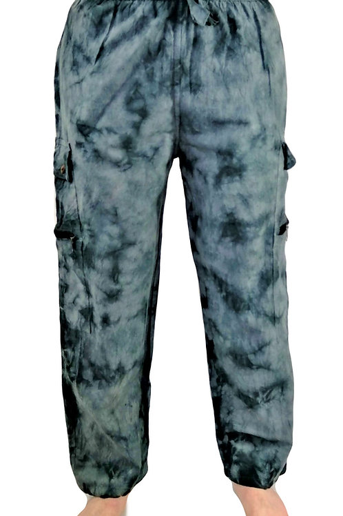 Tie Dye Long Pocket Trouser
