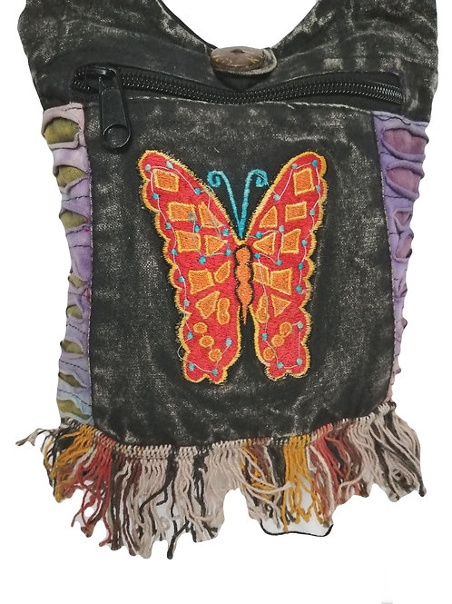 Small Embroidered Butterfly Shoulder Bag