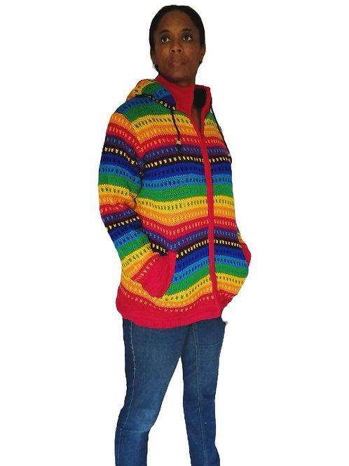 Rainbow Spot Jacket Fleece Lined