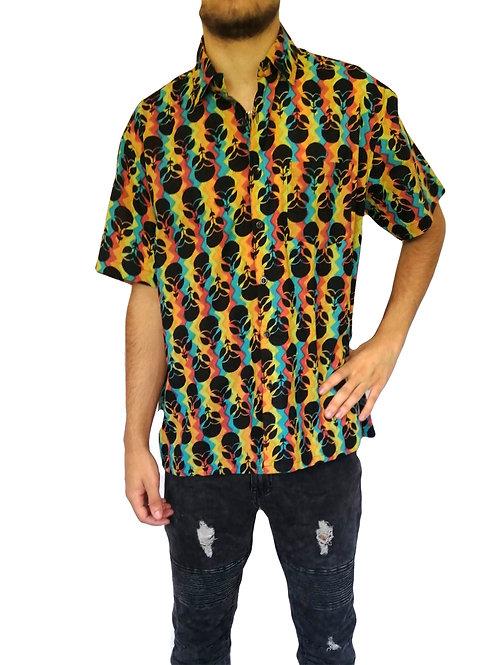 Jaipur Multi with Black Motif Print S/S Shirt