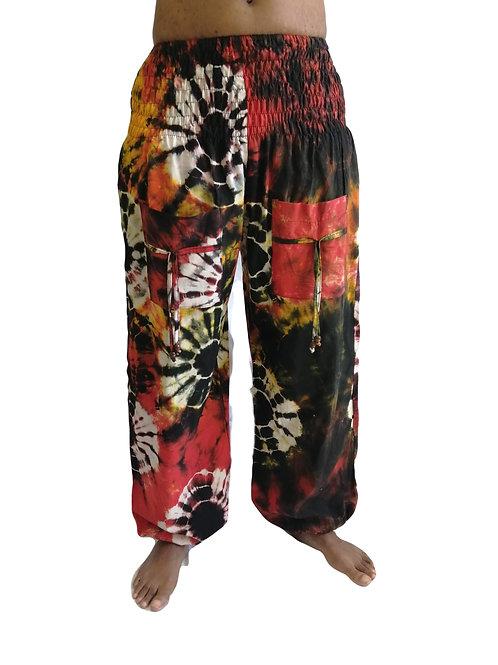 Circle Tie Dye COTTON Natan Trousers (in 3 Colours)